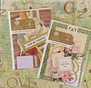 Anna Griffin Card Making Kits Good Luck + For My Friend 8 Total Greeting Cards