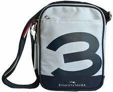 Etiqueta Negra Borsello Flat Crossover Uomo Men Shoulder Bag Messenger  Bianca