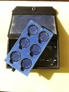 Vintage Bausch & Lomb Auxiliary Phoropter Cylinder Lens Set Complete In Case #