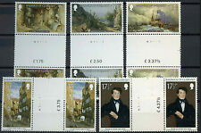 Guernsey 1980 SG#221-5 Christmas, Paintings MNH Gutter Pairs Set #D2238