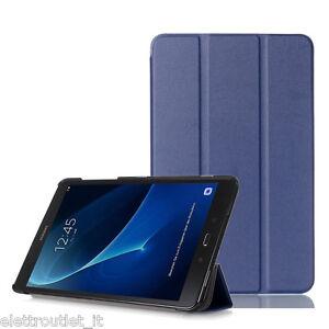 CUSTODIA COVER Integrale SMART SUPPORTO per Samsung Galaxy Tab A6 10.1 2016 Blu