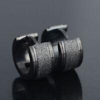 1Pair Unique Cool Mens Stainless Steel Hoop Piercing Ear Earring Studs Jewelry N