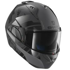 SHARK EVO ONE 2 HELMET - LITHION DUAL AKA- ANTHRACITE BLACK (GREY & BLACK)
