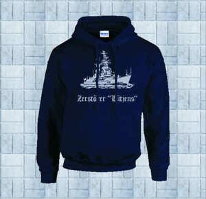 Marine Kapuzen-Shirt, D185 Zerstörer Lütjens Baumwolle