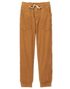 NWT Gymboree Boys Pull on Pants Tan Corduroy Jersey Lined Jogger Epic Dig