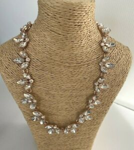 Phase Eight Alannah Navette Choker  Necklace Rose Gold Sparkle New Gift