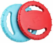 Indestructible Rubber Dog Flying Disc, Squeaky Float Dog Flying Disc