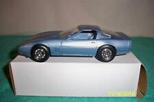 Corvette 1985 Dealer Promotional Blue Car 1/25 Scale Mint In Box