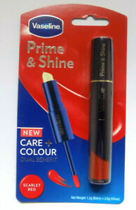Vaseline Prime & Shine Care And Colour Dual Benefit Scarlet Red   Free Delivery
