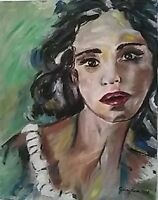 Olio su tela, quadro, quadri, ritratto, donna, arte, arredo