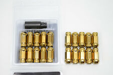 1320 PERFORMANCE GOLD LUG NUTS 24 PCS 7/16-20 CHEVROLET BUICK PONTIAC OLDSMOBILE