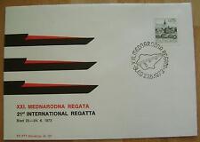 1973 YUGOSLAVIA COVER 21ST INTERNATIONAL ROWING REGATTA BLED SLOVENIA