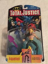 Brand New Total Justice: AQUAMAN Action Figure with Blasting Hydro Spear!