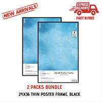 24x36 Thin Poster Picture Frame Display Protect Cover Showcase Certificate 2 Set