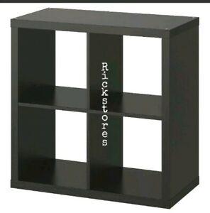 IKEA KALLAX BLACK-BROWN 🔝STORAGE DISPLAY UNIT SHELVING BOOKCASE KALLAX 77x77cm