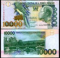 Saint Thomas & Prince 10000 Dobras 2004 P 66 c UNC LOT 5 PCS
