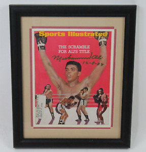 Muhammad Ali framed signed autographed Sports Illustrated! JSA LOA!