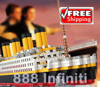 Big Titanic Jack Rose Figures Building Blocks Toy DIY Fit With Legos 1860 PCS