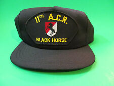 11th ACR Black Horse Snap Back Hat Cap. USA Made