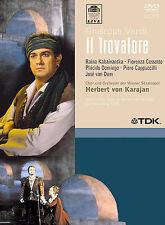 Verdi - Il Trovatore Domingo, Cossotto, Kabaivanska, von Karajan (DVD, 2004) NEW