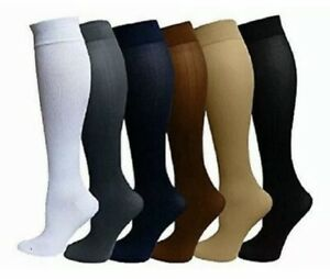 6 Pairs Compression Socks Relief Stockings Graduated Support 20-30mmHg Men Woman
