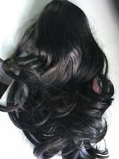 """CLIP IN DRAWSTRING WAVY CURLY 18"""" LONG PONY TAIL HAIR PIECE  Jet black boxed //"""