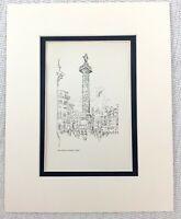 1901 Antico Stampa The Piazza Colonna Roma Italia Architettura Joseph Pennell