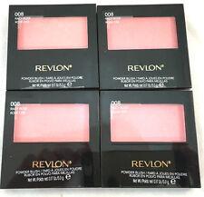 (4) Revlon Powder Blush w/ Brush New & Sealed 008 - Racy Rose 0.17 oz each