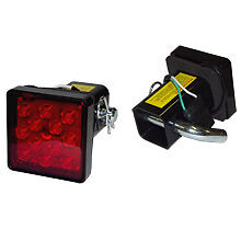 """2"""" Trailer Hitch  Cover with 12 LED Brake Light with Pin and harness *USA*"""