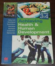 Book Achieving Health & Human Development VCE Units 3&4. Kathryn Smith. McMillan