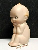 Vintage Bisque Porcelain Miniature Kewpie Doll Baby Piano Figurine Hand Painted