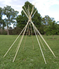 POLES for 10 ft. diameter tipi, teepee, or tepee - Retractable for Outdoor Tipi