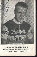 AUGUSTIN CORTEGGIANI cyclisme vélo 1950s signed Helyett autographe