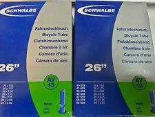 3x Schwalbe AV13 26 pollici Mountain Camere d'Aria Schrader Valvola 26 x 1,50 - 2,50