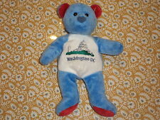 MARY MEYER  WASHINGTON DC PLUSH BEAN BAG BEAR  BLUE RED EARS  NEW WITH TAGS
