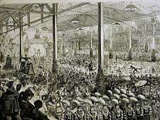 New listing Arion Masquerade Ball Gilmore'S Garden Nyc Court of King Arion 1878 Print Matted