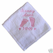 Personalised Embroidered Hand Towel  Childs Ladies Mens Guest Xmas Name & Design