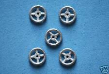 Dinky-pièces de rechange | 5 dinky steering wheels série 100 | voitures de course en métal blanc