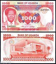 UGANDA 1000 SHILLINGS 1985  Pick 23   SC / UNC