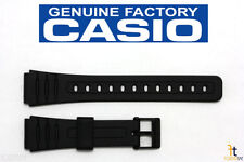 CASIO F-105W 18mm Original Black Rubber Watch Band Strap F-91W F-94W