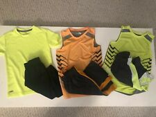 Lot of 6 Pieces Boys Mta Sport Outfits Sz S 6-7 Shorts & Tops Orange Gray Yellow
