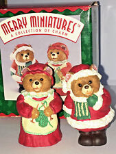 Hallmark Keepsake 1996 Mr And Mrs Claus Merry Miniature Christmas Figurine Teddy