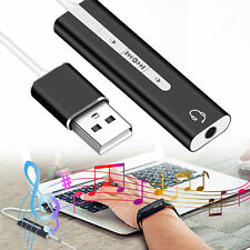 USB to 3.5mm Jack Headphone Stereo External Audio Sound Card Adapter Converter