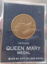 1970 CITY OF LONG BEACH OFFICIAL QUEEN MARY MEDAL COIN CASE