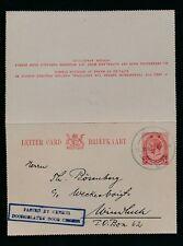 SOUTH WEST AFRICA 1915 SA KG5 1d STATIONERY LETTERCARD CENSORED...DUMB DR CANCEL
