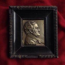 Antique Piano Composer Wagner 1930s Franz Stiasny Bronze Portrait Medal Austria