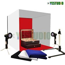 Portable 40cm Photo Soft Box Light Tent Cube Sofbox Lighting 4 Backdrops Kit UK