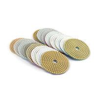 "16Pcs 4"" Diamond Buffing Pads Polishing Tool for Concrete Marble 30-8000 Grit"
