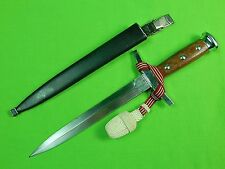 Vintage Swiss Switzerland Army Dress Dagger Fighting Knife & Scabbard Knot