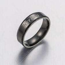 King And Queen Couple Rings Stainless Steel Crown Rings Love Promise Rings